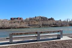 Happy bench Monday (davebloggs007) Tags: calgary river bow pathway 2014
