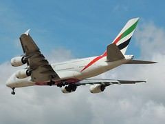 Emirates Airbus A380-861 A6-EEB - final approach to Manchester, 21 July 2014 (Ross Kennedy) Tags: new england sky man southwest west tower english tarmac airplane manchester concrete fly high airport wings holidays europe european northwest britain good euro aircraft altitude aviation air south jets flight eu fast cockpit aeroporto terminal aeroplane landing emirates deck international level airline planes airbus passenger arrival popular departure propeller takeoff runway flights carrier freight mounds flightdeck airliner intl turboprop airfield aerodrome winglets fuselage jetliner ringway planespotting egcc turbojet tailplane turbofan superjumbo iata icao a380800