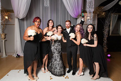 Le Bam Studio Wedding in Atlanta, GA (ChrisMelinda) Tags: atlanta wedding halloween tattoo groom bride blacklace weddingphotography lacedress tattooedcouple lebamstudio