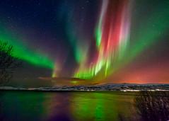 The Fire of God (Wayne Pinkston) Tags: nightphotography sky norway night canon landscape aurora nightsky northernlights auroraborealis troms nikon1424mm canon1dx waynepinkston