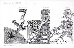 Zentangle A Day003 (ronniesz) Tags: art penandink artisittradingcards zentangle zentangleinspiredart