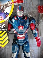 Hasbro  Iron Man 3  Arc Strike Iron Patriot  Close Up (My Toy Museum) Tags: light man iron action arc sound strike patriot figures hasbro