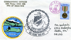 1992 06 15 - Indian Island Naval Weapons Station WA - USS PLEDGE (MSO 492) - cancelled aboard CVN-70 (BlackShoe1) Tags: ship stamp cover envelope usnavy cachet usn postmark minesweeper pledge stampcollecting mso uscs pacificfleet indianisland returnaddress cornercard weaponsstation minegroupone usspledge universalshipcancellationsociety mso492 oceangoingminesweeper usspledgemso492 navalphilately indianislandnavalweaponsstation indianislandnavalstation