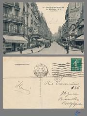 PARIS-MONTMARTRE La Rue Lepic A.P. (bDom [+ 3 Mio views - + 40K images/photos]) Tags: paris 1900 oldpostcard cartepostale bdom