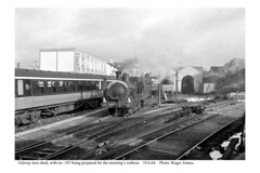 Galway loco shed. No. 183. 10.6.64 (Roger Joanes) Tags: ireland galway blackwhite railways