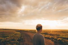South Dakota sunrise (Christopher Mongeau) Tags: life road morning travel light usa west field southdakota america sunrise 35mm landscape nikon natural free roadtrip badlands marissa adventures