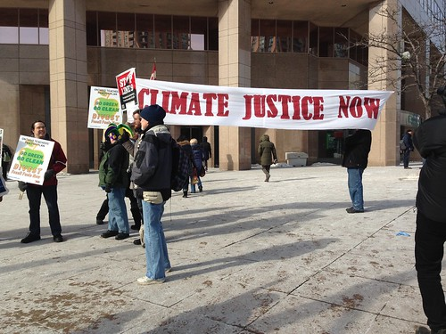 Protest at work: Climate justice now
