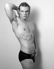 Adam @ BMA (Rajan Wadhera) Tags: shirtless studio underwear muscular briefs abs malemodel emporioarmani modeltest
