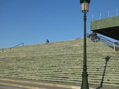 A man alone (Micheo) Tags: city architecture stairs spain arquitectura loneliness steps ciudad solo granada soledad solitario palaciodecongresos escalinata