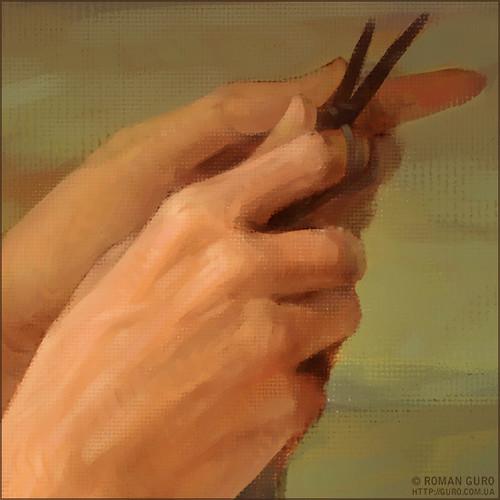 Та, которая вяжет полотно своей жизни. | The canvas of life