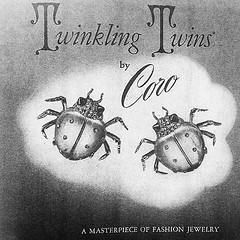 #bugs #coro #costume #vintagejewels #vintageads #twinkle #twins (doodooFORyooyoo) Tags: costume twins twinkle bugs coro vintageads vintagejewels uploaded:by=flickstagram instagram:photo=8683719984163879933975078