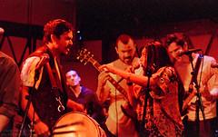 Dhol vs Voice (Indofunk Satish) Tags: music woman man bass guitar manhattan photoshopped lowereastside livemusic singer liveband rockwoodmusichall dhol