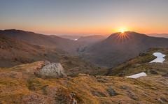 St.Sunday Crag Sunrise (davewilliamsuk) Tags: lakedistrict stsundaycrag dollywaggonpike cumbria mountains sunrise weather landscape outdoor greatoutdoors mountainrange goldenhour