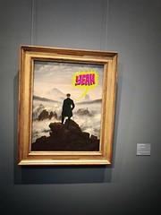 """""""Yeah"""", meinte der Wanderer ber dem Nebelmeer. (lukasch) Tags: man david art museum painting yeah grafiti kunst hamburg summit mann wanderer caspar friedrich kunsthalle gipfel gemlde nebelmeer caspardavidfriedrich"""