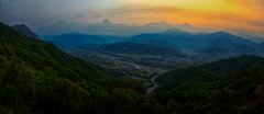 Sunrise view from Sarangkot, Pokhara, Nepal (CamelKW) Tags: nepal sunrise pokhara sarangkot 2016