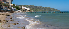 The Beach at Diki (Sue_Hutton) Tags: panorama rural bay spring sand waves morocco shore maroc fishingboats tangier mediterraneansea tanger diki fishinghamlet