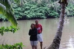 Sheri and Me At Hanalei Bay (fethers1) Tags: kauai hanalei hanaleibay kauaivacationmay2016