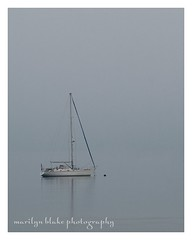 Boat in Gray (mblakephoto) Tags: ocean summer beach water fog sailboat fun outdoors boat quiet capecod massachusetts stillness