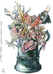 1571 ( ) Tags: flowers stilllife ink watercolor fountainpen 365 platinum