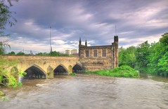 The Chantry Chapel of St Mary,  Wakefield (Jeffpmcdonald) Tags: uk yorkshire wakefield ancientmonument listedbuilding wakefieldcathedral bridgechapel nikond7000 jeffpmcdonald chantrychapelofstmarythevirgin may2016