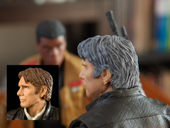 Han Solo repaint (Pato Berroeta) Tags: 6 black star starwars inch solo figure series wars inches han figura pulgadas