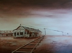 The Pearling Shed (Catsmad55) Tags: brown art painting acrylic shed monotone len pearling hend