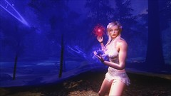 TESV - Red, white, and blue (tend2it) Tags: kenb elder scrolls skyrim v rpg game pc ps3 xbox screenshot sweetfx enb krista demonica race sg lilith 161 felicia dress white pearl magic dual wield string hydra