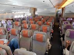 Happily Empty Flight - Singapore to Dubai (mikecogh) Tags: plane empty flight aisle emirates seats airbus a380 bayofbengal