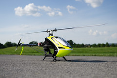 MSH Protos Max V2 at the field (nathanwalls) Tags: rc heli helicopter msh protos max v2 yellow
