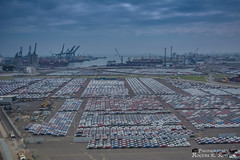 Recinto Portuario (rogersrincon2893) Tags: coches casas plataformas contenedores puerto de veracruz exportacion muchos cielo azul mar