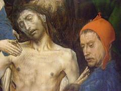 Hugo van der Goes, Lamentation of Christ, c 1470-1475 (DeBeer) Tags: vienna art painting austria catholic christian flemish khm kunsthistorischesmuseum 15thcentury lategothic 1470 1470s 1475 1460s netherlandish northernrenaissance hugovandergoes lamentationofchrist 15thcenturyart 15thcenturypainting