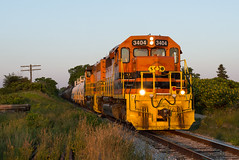 Last Light, Last Shot (Joseph Bishop) Tags: railroad train track tracks rail railway trains rails railfan sor emd sd402 3404 southernontariorailway rlhh cnhagersvillesubdivision brant22