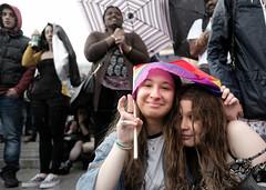A Wet Pride - Sheltering Under a Small Rainbow Flag in the Rain - London's LGTB Pride in the Square. (alisdare1) Tags: rainbowflag rain lgbt gaypride londonpride gay lesbian equality parade carnival pride lgbti lgbtq prideinlondon nofilter urban street 25june2006 photojournalism tolerance london uk fuji fujifilm xpro2 16mmf14 fuji16mm fujifilm16mm trafalgarsquare