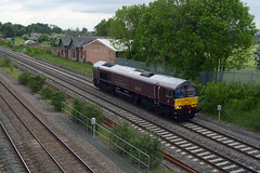 0E66 belmond royal scotsman gbrf operated 66743 passing hathern station north of loughborough on eastleigh to doncaster roberts road (I.Wright Photography over 2 million views thanks) Tags: road station north royal roberts passing loughborough doncaster scotsman operated eastleigh belmond gbrf hathern 66743 0e66