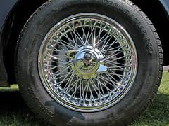Jaguar 'E' Type 9 MJH (BIKEPILOT) Tags: uk greatbritain blue classic car wheel vintage automobile transport icon hampshire vehicle british jaguar alton sportscar motorcar jaguaretype carmeet thedeparturelounge 9mjh