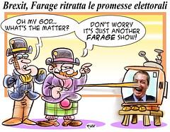 Farage il ballista (Moise-Creativo Galattico) Tags: gb vignette satira attualit moise farage giornalismo editoriali moiseditoriali editorialiafumetti brexit
