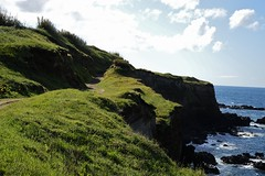 Back from the Azores, overview of Sao Miguel (YDekkers) Tags: cliff rockformation landscape outdoor hill green azores hiketrail