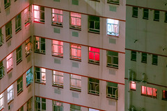 Fragments (elsableda) Tags: africa pink windows urban building rooftop window buildings southafrica long exposure noir cityscape view tech south curtains johannesburg cyberpunk joburg dystopia dystopian