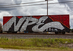 (o texano) Tags: bench graffiti texas houston trains freights wholecar benching npe