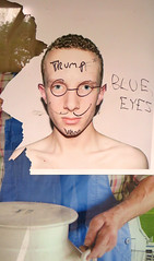 The Mind of Donald Trump (Robert Saucier) Tags: newyorkcity streetart newyork poster graffiti manhattan blueeyes explore donaldtrump trump img2803 explorejun62016184