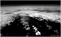 Cloud Nine V (lukiassaikul) Tags: arealphotography creativephotography photopainting digitalpainting clouds seenfronwindowseat sky monochrome ultrahighcontrast