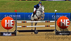 Sarah Stevenson on Blatinka - CSI AM-B at Bolesworth International 2016 (Natalie Gillison Photography) Tags: show uk horse sarah grey jumping stevenson international british equestrian equine gbr 2016 gelding kwpn bolesworth blatinka