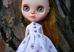 FA (zsofianyu) Tags: summer eye art shop pull photography for store doll acrylic dress handmade unique country chips ring clothes blond blonde lad string customized blythe neo freckles etsy custom takara nicky seller tomy fa adoption customizing eyechips puppelina