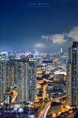 Kowloon Bay Nightscape (siuba) Tags: 35mm hongkong sony contax   g35 lighttrail kowloonbay   a7s siuba tobylo