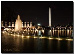 Washington DC at Night (Betty Vlasiu) Tags: world night dc washington memorial war ii