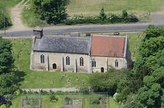 Bridgham St Mary Church in Norfolk - aerial image (John D F) Tags: church norfolk churches aerialview aerial aerialphotograph bridgham