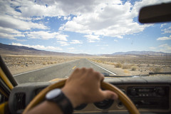 Desert Roads (Shutter Theory) Tags: california road sky clouds driving desert pov stormy roadtrip commute datsun owensvalley owenslake roadshots keeler hwy136 bulletside pl620 fromdeathvalleywithlove doitinadatsun