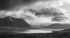 the silence before nightfall (lunaryuna) Tags: sky bw panorama seascape monochrome weather clouds landscape coast blackwhite iceland twilight dusk shore westcoast lunaryuna cloudscape nightfall snaefellsnespeninsula grundarfjordur westiceland lightmood kirkjufellmountain