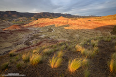 Another Coat of Light (michael ryan photography) Tags: light sunset color oregon painted pacificnorthwest mitchell paintedhills nationalmonument johnday sidelight michaelryanphotography