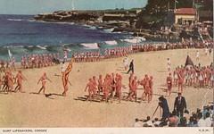 Surf lifesavers, Coogee, N.S.W. (Liz Pidgeon) Tags: coogee beach lifesavers parade